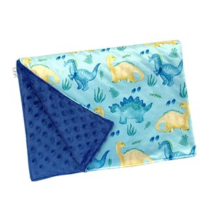 Couverture en Minky Dino turquoise - Oops