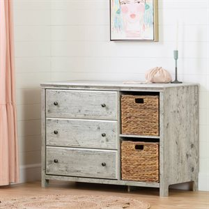 Commode 3 tiroirs paniers de rangement Cotton Candy Pin bord