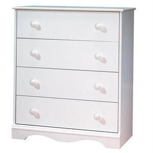 Commode 4 tiroirs Angel Blanc Solide - South Shore