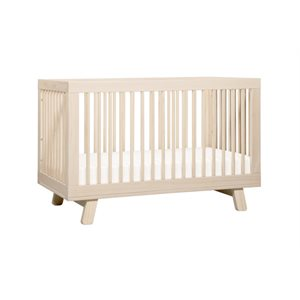 Hudson 3-in-1 Convertible Crib Washed Natural - Babyletto