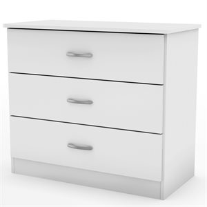 Commode 3 tiroirs avec porte Libra Blanc - South Shore
